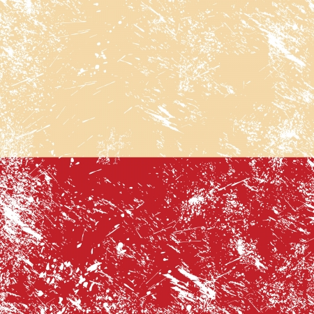 Poland retro flag Illustration