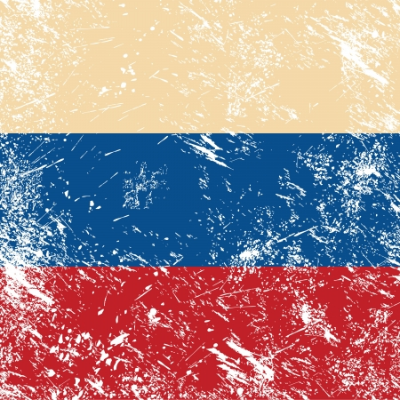 Russia retro flag Stock Vector - 14557207