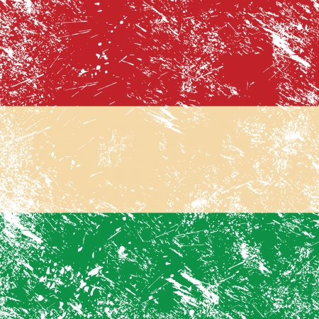 Hungary retro flag Vector
