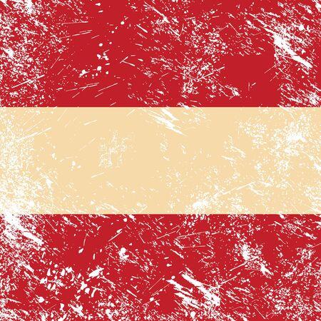 Austria retro flag Stock Vector - 14587600
