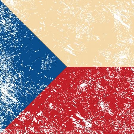 Czech retro flag Vector