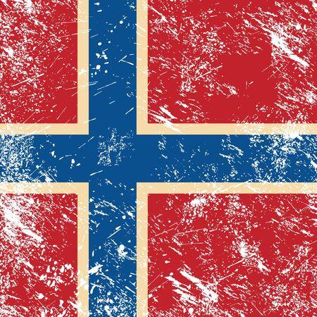 Norway retro flag