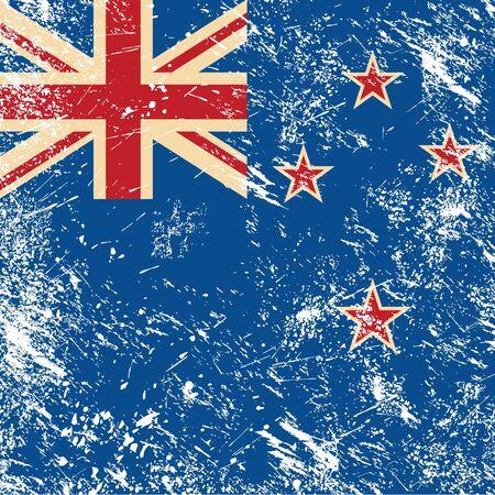 bandera de nueva zelanda: Nueva Zelanda retro bandera Vectores