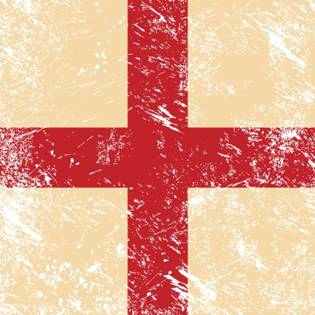 England retro flag Vector