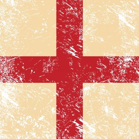 cruz roja: Inglaterra retro bandera Vectores