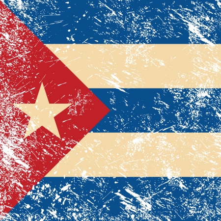 Cuba retro flag Stock Vector - 14623506