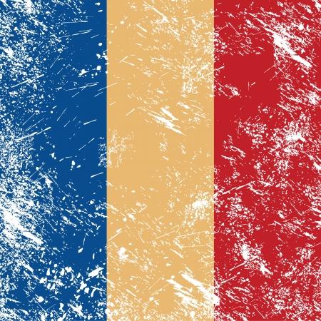 romania flag: Romania retro flag