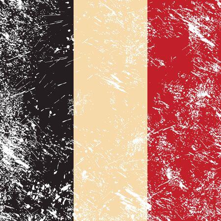 flemish: Belgium retro flag