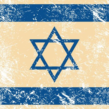 jewish star: Israel retro flag