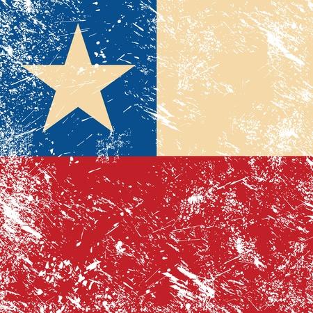 chile flag: Chile retro flag