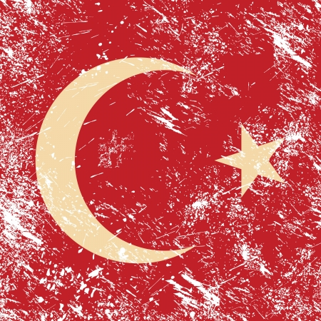 Turkey retro flag Stock Vector - 14623514