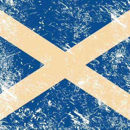 identidad cultural: Escocia retro bandera Vectores