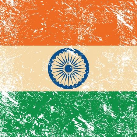 India retro flag Stock Vector - 14623518
