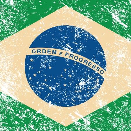 illustrators: Brazil retro flag