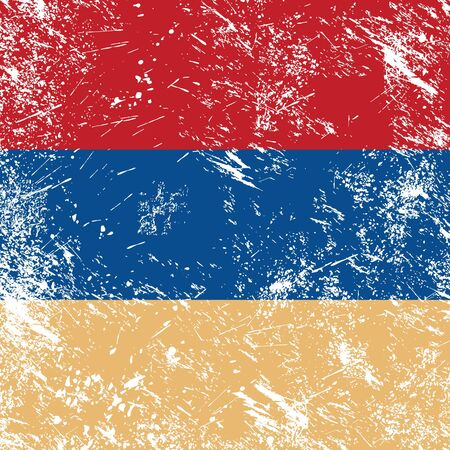 Armenia retro flag Vector