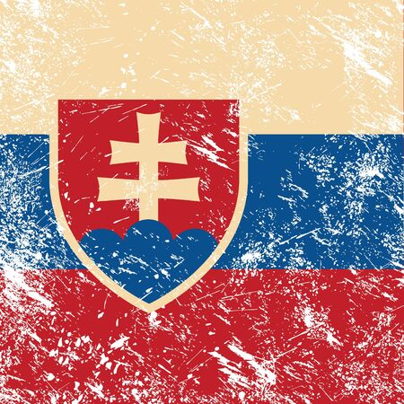 slovakia flag: Slovakia retro flag