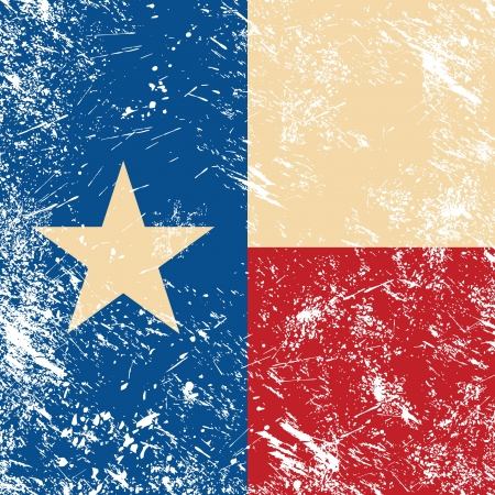 Texas retro flag Vector
