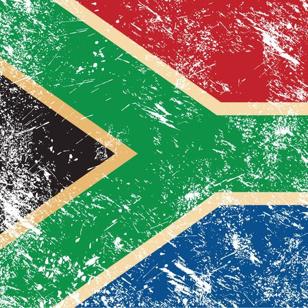 Republic of South Africa retro flag Vector
