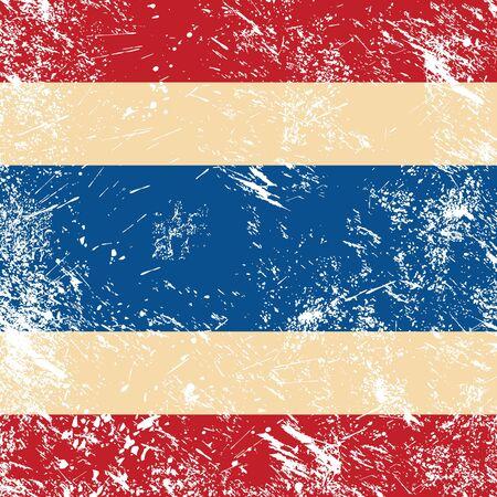 Thailand retro flag Vector Illustration