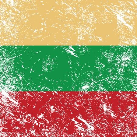 Lithuania retro flag Vector Illustration