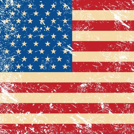 stated: USA vintage grunge flag Illustration