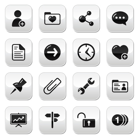 Website navigation buttons set Vector