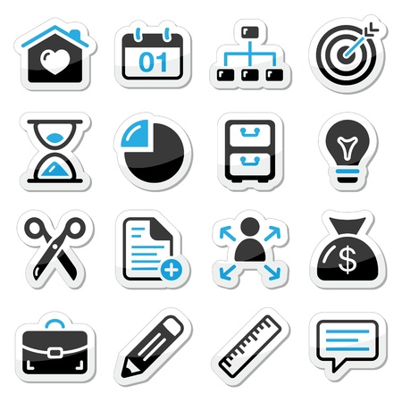 Internet, web icons as labels Vector