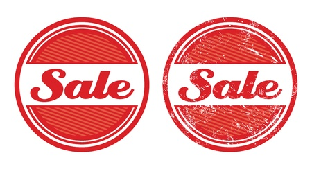 Sale retro grunge badges Stock Vector - 14848860