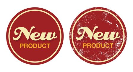 new product: New product red retro badge - grunge style