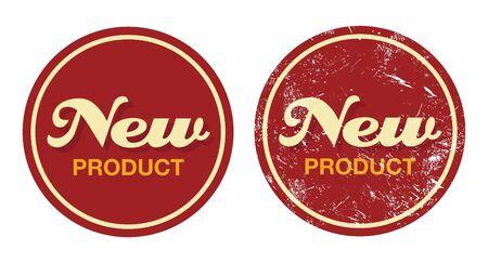 Nieuw product rode retro badge - grunge stijl