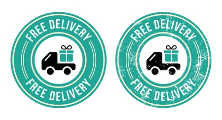 Free dellivery retro grunge badge Vector