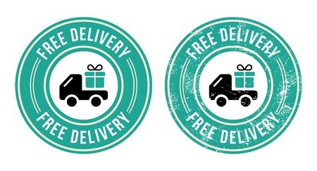 free: Free dellivery retro grunge badge