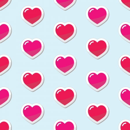 Seamless Heart love background, pattern Vector