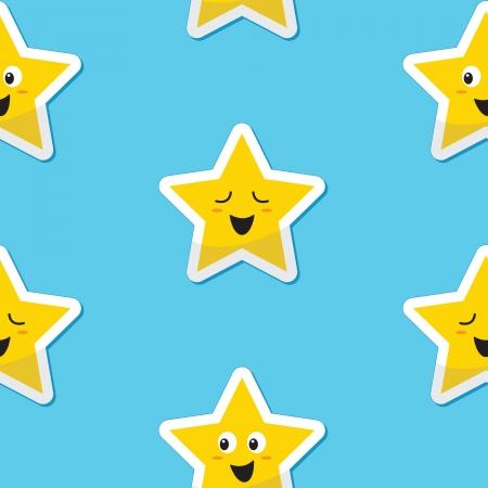 Naadloze blij sterren achtergrond voor kids
