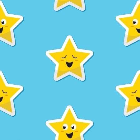 Seamless happy stars background for kids Stock Vector - 14887147