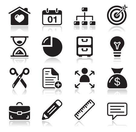 aim: Internet web icons set Illustration