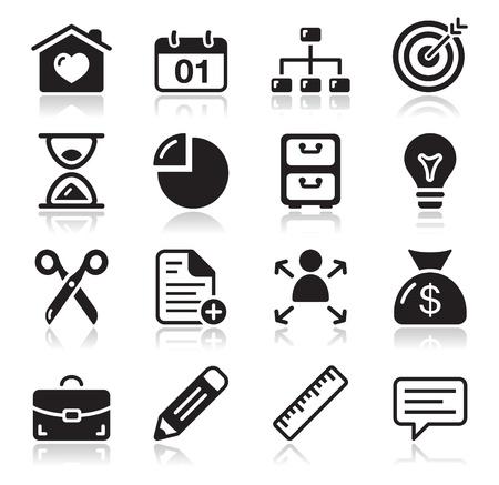 pravítko: Internet web ikony set Ilustrace