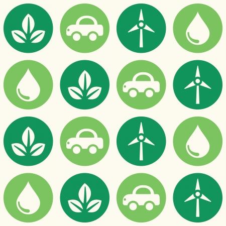 wallpapaer: Retro eco green seamless background pattern