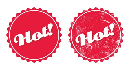 Hot product retro grunge badges Vector