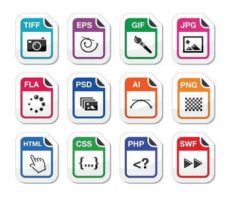 psd: Bestandstype zwarte iconen als labels - graphics, codering