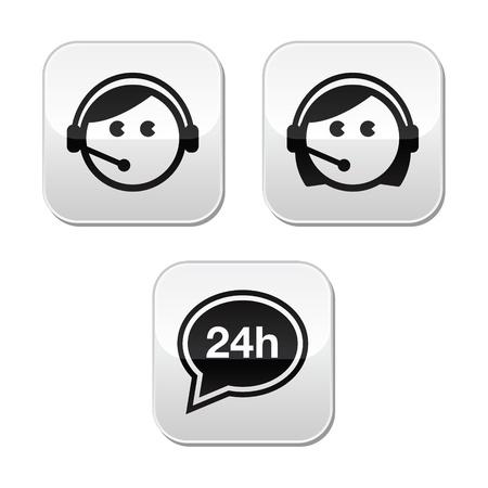 headset business: Clienti agenti dei servizi pulsanti impostati