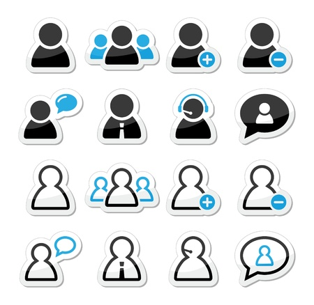 User man icon labels set for website Stock Vector - 15656959