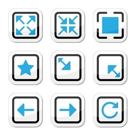 small size: P�ginas web iconos tama�o de la pantalla ajustado Vectores