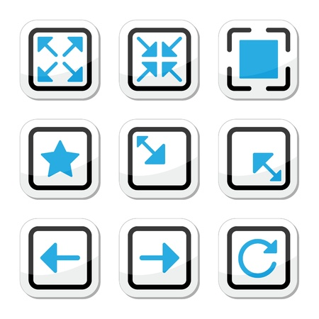 smaller: Web page screen size icons set Illustration