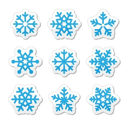 Christmas snowflakes icons set Stock Vector - 15710650