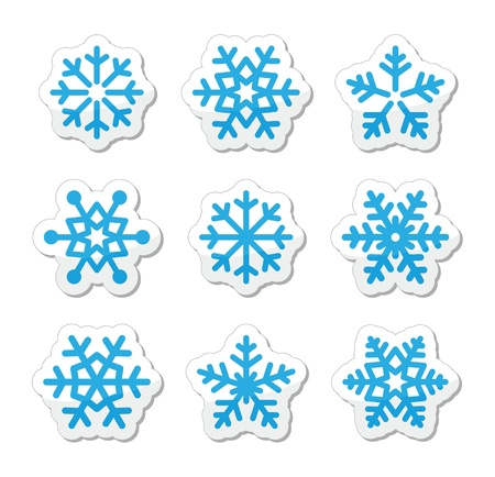 Christmas snowflakes icons set Stock Vector - 15710650