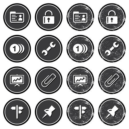 worn sign: Iconos de Navegaci�n del retro en las etiquetas