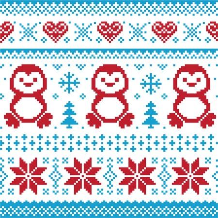 tejidos de punto: Navidad y de invierno de punto patr�n, tarjeta - estilo su�ter scandynavian