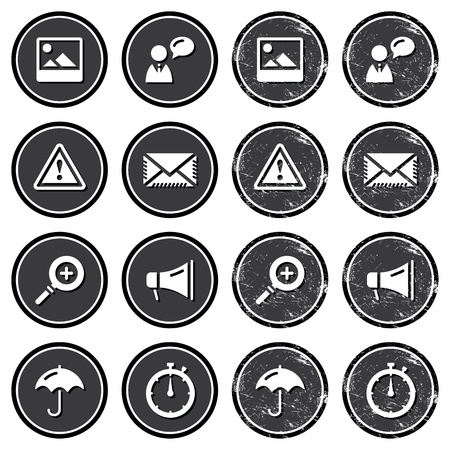 Website navigation icons on retro labels set Stock Vector - 16281124