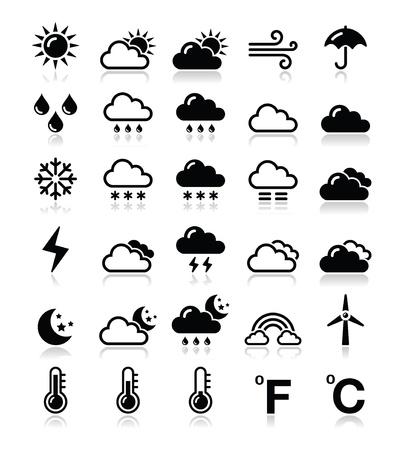 clima: Clima conjunto de iconos - vector